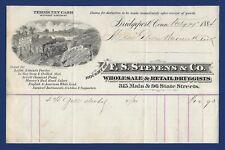 1884 Druggist Invoice - F. S. STEVENS & CO, Bridgeport, CT
