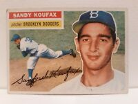1956 Topps Sandy Koufax Brooklyn Dodgers #79 Baseball Card. 100 %original