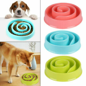 Bowl Pet Dog Cat Slow Food Feeder Anti  Feed Dish Tray Maze Large Small UK