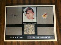2003 Flair Greats Cut Of History Early Wynn Cleveland Indians GW Jersey NrMt
