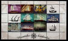 Croatia Sc 376I NH issue of 1998 - Minisheets - Ships