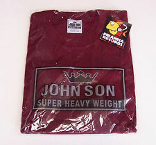 John Son Premium Quality Maroon T-Shirt 5XL 100% Cotton Piranha Records