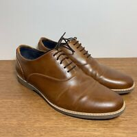 Steve Madden Men's Oxfords Size 8 Cognac Brown Leather NUNAN Lace Up Oxford