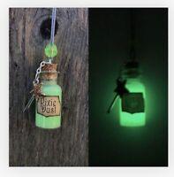Green Glow Tinker Bell Pixie Dust Necklace / Disney Cruise FE Fairy Dust