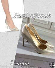 Jimmy Choo ROMY Champagne GOLD  pumps sz 36 1/2
