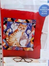 cross stitch chart -  Cats cushion -Taken from a magazine - Never used