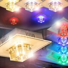 Applique LED Design Plafonnier Lampe de couloir Changeur de couleur Verre 148286