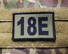 18E 18 Echo MOS OD Green Hook Back Morale Patch Special Forces Communications