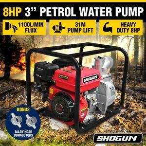 """Shogun 8HP 3"""" Petrol Water Transfer Pump High Flow Fire Fighting Irrigation"""