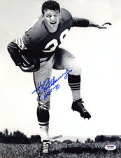 Hugh McElhenny SIGNED 11x14 Photo + HOF 70 SF 49ers PSA/DNA AUTOGRAPHED