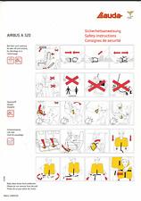 Safety Card / Lauda Air / Airbus A320 / 2006 (Matnr. 10002130)
