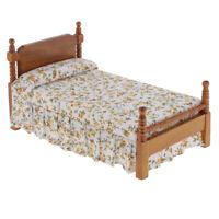 1/12 jouet de lit pastorale de meubles de maison de poupée pour enfants
