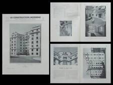 CONSTRUCTION MODERNE n°32 1935 PARIS, 14 RUE CHOMEL, EMILE BOURSIER