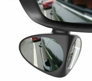 2 in 1 Car Convex mirror & Blind Spot Mirror Wide Angle Mirror 360 Rotation