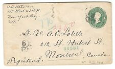 1901 Montreal Square Circle Precursor Cxl - Incoming on US Registered Cover