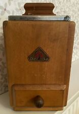 More details for collectors vintage wooden coffee mill / grinder by deve de ve - made in holland