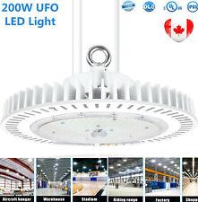 200W LED High Bay Light 30000LM Dimmable LED UFO High Bay Warehouse Lighting DLC