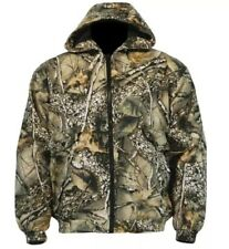 Insulated Hunting Jacket Coat Camo Burly Tan WFS Element Gear Winter Size  M-2XL