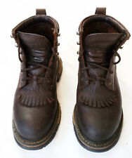 Womens Rocky Western Lace up Cuffed Ankle Keltie Boots US Size 6.5 Brown Leather