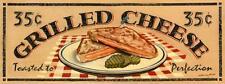Grilled Cheese Sandwich Metal Sign, Vintage Diner Lunch, Retro Kitchen Decor