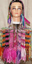 50 Clip in Hair Braids With Beads and Feathers