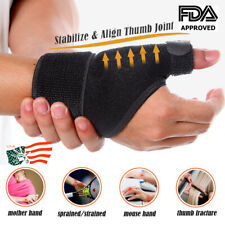 Wrist Thumb Support Hand Palm Brace Carpal Tunnel Arthritis Compression Gloves O