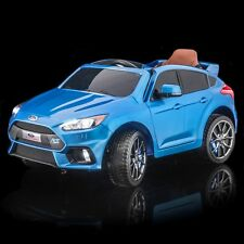 SPORTrax Licensed Ford Focus RS Kids Ride on Car, w/FREE MP3 Player - Blue