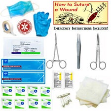Surgical Suture Kit Basic First Aid Emergency IFAK Military Survival Suture EMT