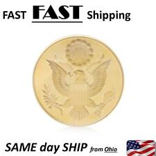 Gold Plated Annuit Coeptis Challenge Commemorative Coin Collection Physical Gift