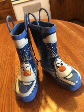 """Disney's """"FROZEN"""" Boys  'OLAF Boots - Size 7/8 - New With Store Tags"""