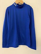 Under Armour Boys Blue fitted Medium Athletic Shirt long sleeve