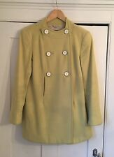 Reiss Pale Yellow Swing Coat, Medium