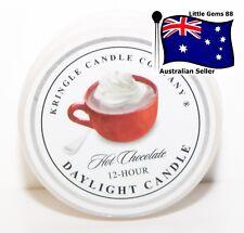 KRINGLE CANDLE * Hot Chocolate * 1.25 OZ Daylight Tealight CANDLE *12 HOUR