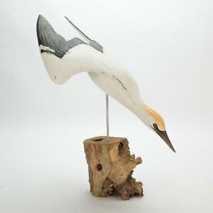 ARCHIPELAGO Hand Carved Wooden Birds - Gannet Diving