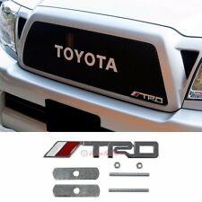 3D Metal Chrome TRD Front Grill Badge Emblem Decal Sticker For Toyota Camry