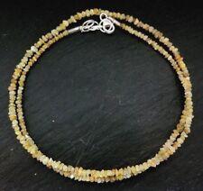 Rohdiamant Kette gelb 925 Sterlingsilber K217