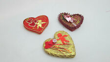 Dollhouse Miniature 1:12th Scale Valentine's 3 Heart Decor