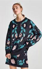 Zara Shimmery Jacquard Oversized Sweater Jumper Size M ONE SIZE BNWT Bloggers