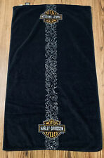 Harley Davidson Bath Towel Shower Body Black 2008 Tribal