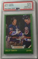 AUTOGRAPHED 1973-74 TOPPS #162 BILLY SMITH ROOKIE CARD~PSA 5 EX/AUTO GRADE 10