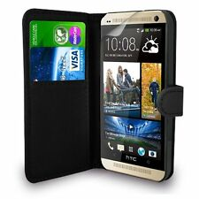 NEW Premium Genuine Leather Wallet Flip Case Cover for HTC One M7