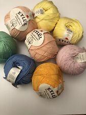400g 100% Cotton Joblot Crochet Knitting Yarn 4ply -DK 8x 50g