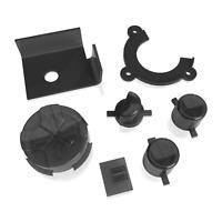 Game Gear Buttons Sega Replacement Clear Black Keys Start A B DPad Power