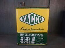 Ancien bidon huile yacco  vintage vieux garage auto publicité