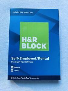2019 Year H&R Block Self Employed Premium NEW Sealed - PC/Mac - Same Day Access