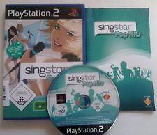 Playstation 2 Spiel - Singstar Pop Hits für PS2 u. PS3 + Anleitung + Bedienungsa