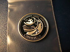 CANADA 2000 INGENUITY SILVER 25 CENT FROM MINT SET BEAUTY!