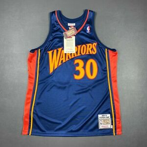 100% Authentic Stephen Curry Mitchell & Ness 09 10 Warriors Jersey Size 48 XL