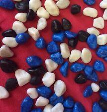 Fish Tank Gravel 4 kg aquarium gravier bleu blanc noir grande pierre polie 10 mm