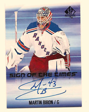 MARTIN BIRON 2015-16 SP AUTHENTIC SIGN OF THE TIMES ON CARD AUTO